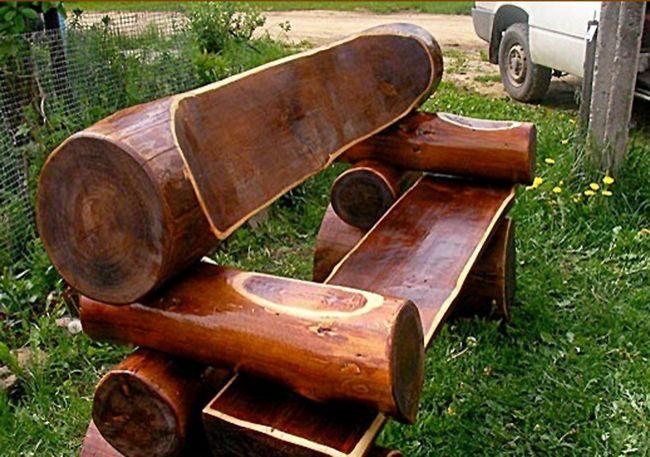 Использование бревна для создания оригинальной и стильной мебели для дачного участка