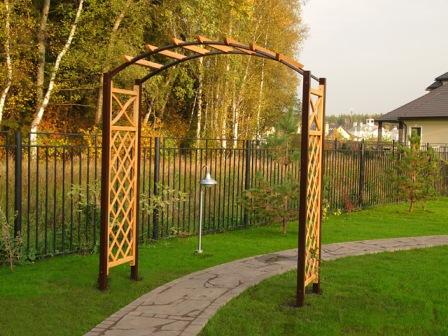 Садовая арка для цветов на даче своими руками: мастер 85