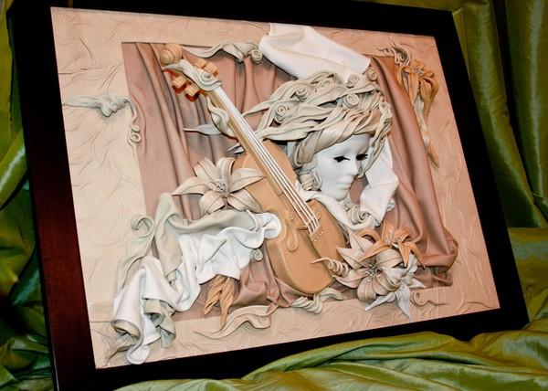 Картина своими руками из картона