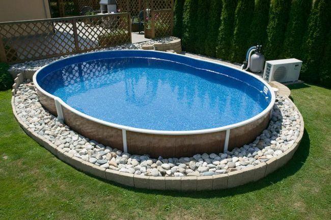 Фото каркасный бассейн своими руками