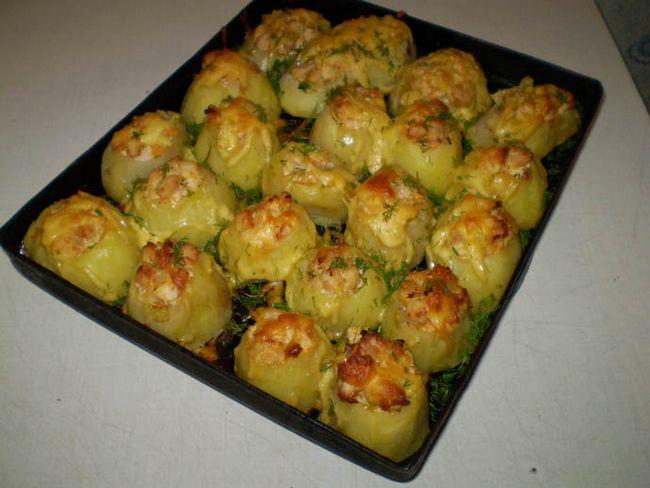 Рецепт вкусной картошки с фаршем в духовке рецепт