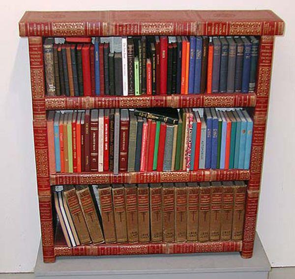 Полки из старых книг