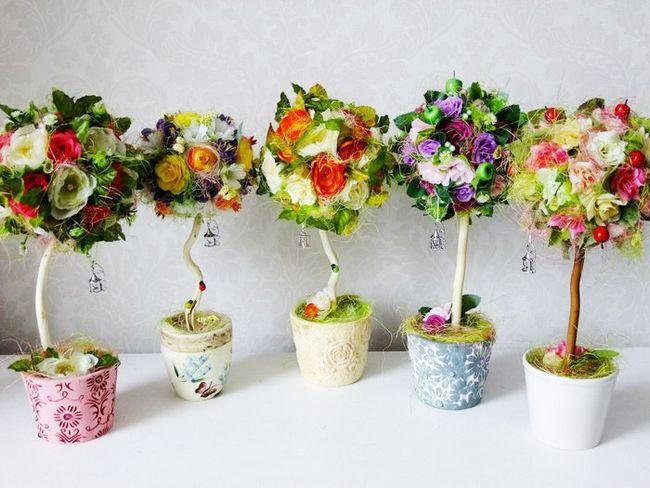 Цветы из ниток крючком фото