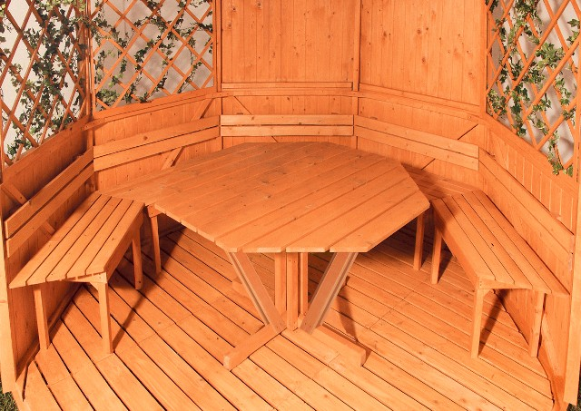 Стол для беседки шестиугольный своими руками